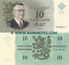 finland currency | Finland 10 Markka 1963 - Finnish Currency Bank Notes, Paper…