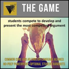 The Game: An Engaging Student-Centered Approach to Argument Persuasive Writing, Teaching Writing, Teaching Tools, Ap Language And Composition, High School Writing, Reflection Questions, Fiction And Nonfiction, Education English, Student Engagement