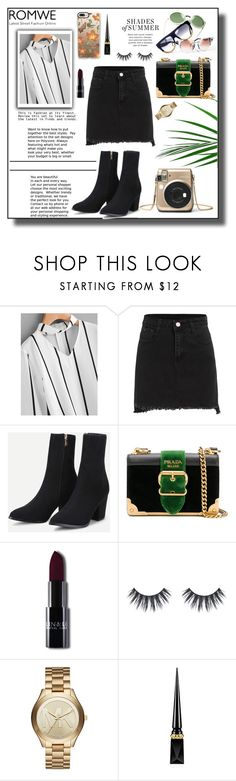 """""""Romwe III"""" by dinna-mehic ❤ liked on Polyvore featuring Prada, Michael Kors, Christian Louboutin, Casetify and romwe"""