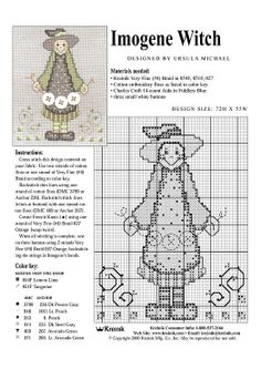 Free witch cross stitch pattern