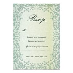 Cameo Vintage Wedding RSVP Card