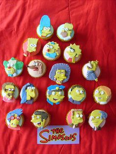 The Simpsons cupcakes by Rachel from Cupcakes Take the Cake, via Flickr