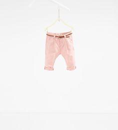 Ribbed leggings-LEGGINGS AND TROUSERS-BABY GIRL | 3 months-3 years-KIDS | ZARA Canada