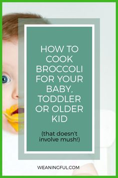 If you're afraid of turning broccoli into mush everytime you cook it, find out how to prepare it carefully with these 10 quick and easy ideas. Find new recipes to inspire you to cook for picky eaters, babies just starting solids or older kids who enjoy it still. Baby Meals, Kid Meals, Meals For One, Extended Breastfeeding, Breastfeeding Tips, Healthy Baby Food, Healthy Meals For Kids, Toddler Food, Toddler Meals