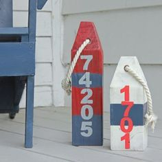 Decorative wooden buoys add an elegant nautical flare to your home.