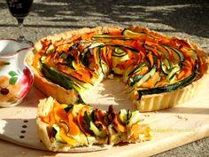 Vegetarian and Seasonal Pumpkin and Courgettes Tart