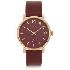Marc by Marc Jacobs Maroon Baker 36.5MM Round Women's Watch