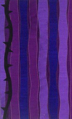 Lenten Parament of silk dupioni and Ultrasuede.