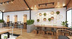Cafe Interior Design, Cafe Design, Interior And Exterior, Food Court Design, Cafe Concept, Coffee Shop Bar, Cafe House, Cafe Shop, Furniture Design