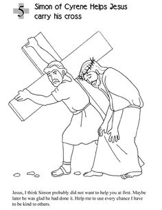 Foot Of The Cross Coloring Page