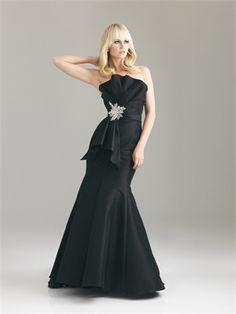 Gorgeous Strapless Crumb Catcher Beaed Broach Stretch Taffeta Prom Dress PD10630 www.dresseshouse.co.uk $120.0000