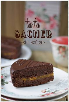 Sacher cake without sugar {by Paula, With Claws in Mass} Diabetic Desserts, Diabetic Recipes, Tortas Light, Bolo Fit, Sin Gluten, Cakes And More, Healthy Desserts, Sweet Recipes, Sugar Free