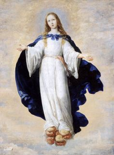 No storm can shake my inmost calm, while to that rock I'm clinging. Since Love is Lord of heaven and earth, how can I keep from singing? The Immaculate Conception, Francisco de Zurbaran, 1661.