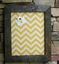 "18""x22"" Barn Wood Frame with chevron Cork Board on Etsy, $34.00"