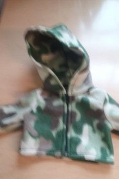 Camo Hoodie for 18 inch doll american girl and 15 inch bitty baby by Lindassewncreations on Etsy