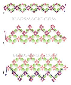 beadsmagic.com - bracelet tutorial U need: seed beads 11/0 or 15/0 faceted beads 4 mm