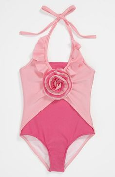 Love U Lots One Piece Swimsuit (Toddler, Little Girls & Big Girls) Toddler Outfits, Kids Outfits, Summer Outfits, Summer Clothes, Toddler Swimsuits, Girls Swimming, Beach Kids, Kids Swimwear, Now And Forever