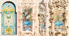 Ceramics that adore the buildings of Café de Paris and on the Rue des Açores.
