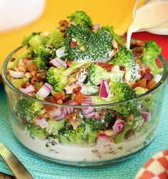 Best Ever Broccoli Salad - Recipe, Vegetarian, Side Dish Quick and Easy, Seasonal Cooking