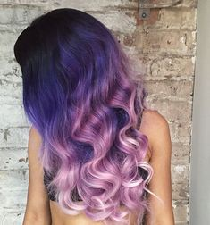 Purple Ombre Curls