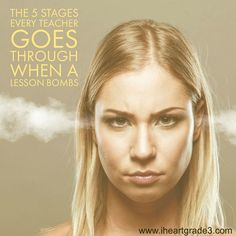 The 5 Stages Every Teacher Goes Through When a Lesson Bombs - I Heart Grade 3 Third Grade Math, Grade 3, Elementary Education, Kids Education, Creative Teaching, Teaching Resources, Student Behavior, Teacher Hacks, Sight Words