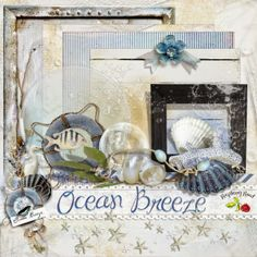 A beautiful free beach themed mini kit designed to coordinate with the Ocean breeze collection from Raspberry Road.