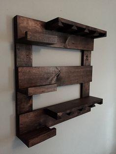 Wine rack rustic wine rack reclaimed wood wall by TheWoodenOwl