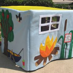 Our Favorite Campsite Card Table Playhouse, Custom Order, Personalized. $190.00, via Etsy.