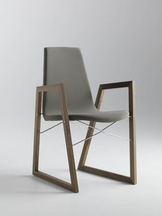 Sled base chair with armrests RAY by @hormdesign