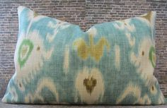 Designer Pillow Cover - 12x18 - Nav Ikat -. $30.00, via Etsy.