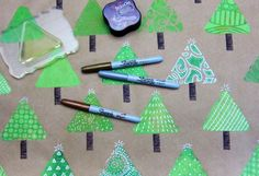 Gelli® Printed Holiday WrappingPaper
