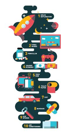 The America Issue Icons by Carrie Ho, via Behance