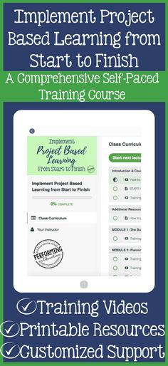 If you want to start implementing project-based learning (PBL) in your classroom, this online training course is amazing! She walks you through everything from planning and pacing your lesson to how to differentiate, build in critique, grade, and MORE!