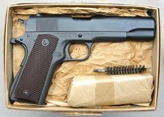 M1911A1 Colt shipped in a sealed box to the Springfield Armory in October 1944, but unopened for decades