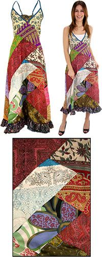 Recycled Sari Patchwork Dress at The Animal Rescue Site