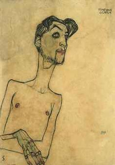 Egon Schiele   Mime van Osen.  signed and dated 'EGON SCHIELE 1910' (lower right), signed with the initial 'S' (lower left) and inscribed 'MIME VAN OSEN' (upper right)  watercolour and charcoal on paper