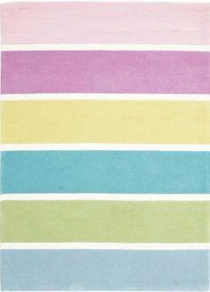 Pastel Banded Stripe Floor Rug Available At Kids Mega Mart Online Australia