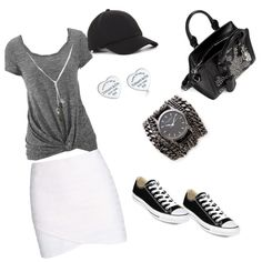 Casual black look By Fabi by fabisennalage on Polyvore featuring polyvore fashion style maurices Vanessa Bruno Converse Alexander McQueen Tiffany & Co. Sara Designs Banana Republic BCBGeneration