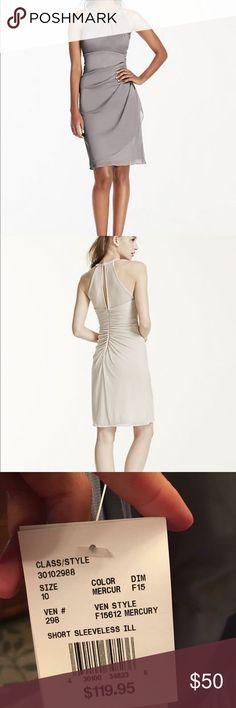Davids Bridal Never worn size 10. Color mercury. Dresses