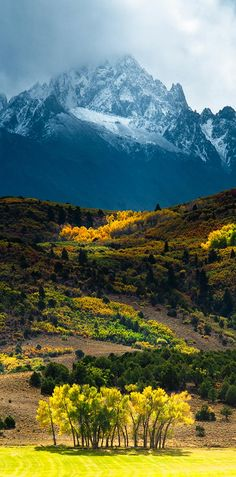 Mount Sneffels – Colorado - great picture, great contrast between foreground and the mountain in the background..