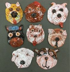 Clay Projects For Kids, Kids Clay, School Art Projects, Sculpture Projects, Ceramics Projects, Dog Sculpture, Animal Sculptures, 4th Grade Art, Art Lessons Elementary