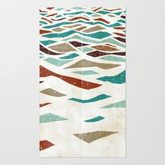 Sea Recollection Rug by Efi Tolia -£47