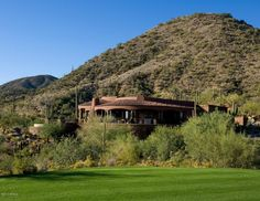 Panoramic golf course views in Desert Mountain.