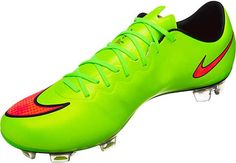 Nike Mercurial Vapor X FG Soccer Cleats - Electric Green with Volt...Available at SoccerPro now!