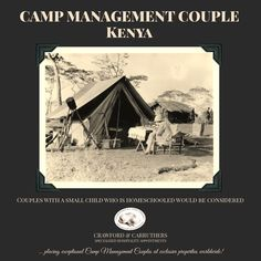 CAMP MANAGEMENT COUPLE KENYA   Our client, an established East African tourism brand, is searching for an energetic management couple for their intimate camp in Kenya. The ideal candidates would have excellent interpersonal skills and would have no problem hosting international guests each meal time. They should both lead from the front, and ideally one should have a passion for food and beverage.  Send your application to Adele or apply online: adele@crawford-carruthers.com… Leading From The Front, Apply Online, Job Opening, New Job, Adele, Kenya, Searching, Beverage, Tourism