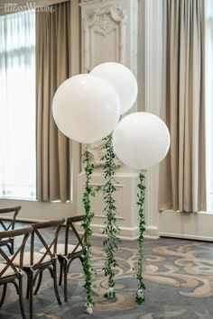 Greenery Wedding Ideas That Are Actually Gorgeous--Balloon Wedding Decor with Greenery, Whimsical Greenery Wedding with Balloons, spring weddings, diy wedding decorations, Wedding Balloon Decorations, Wedding Balloons, Bridal Shower Decorations, Wedding Centerpieces, Bridal Shower Ballons, Wedding Ideas With Balloons, White Bridal Shower, Floral Decorations, Baby Shower Balloons