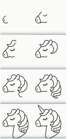 Easy Animal Drawings, Easy Doodles Drawings, Easy Doodle Art, Easy Drawings For Kids, Simple Doodles, Art Drawings Sketches Simple, Cartoon Drawings, Cute Drawings, Art For Kids