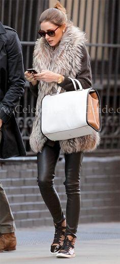 Olivia carrying Anya Hindmarch, shopping in Soho -  April 4, 2012