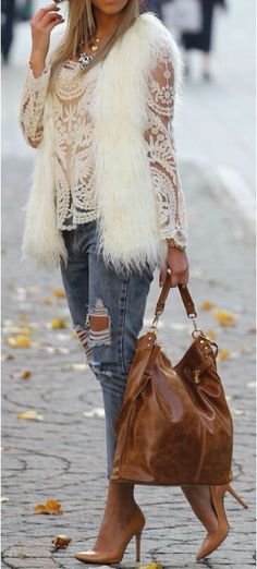 I do not typically like the faux fur vests but oh goodness this is beautiful