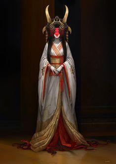 ArtStation - Princess, Shan Qiao Fantasy Character Design, Character Design Inspiration, Character Concept, Character Art, Concept Art, Dark Fantasy Art, Fantasy Artwork, Mago Anime, Samurai Artwork
